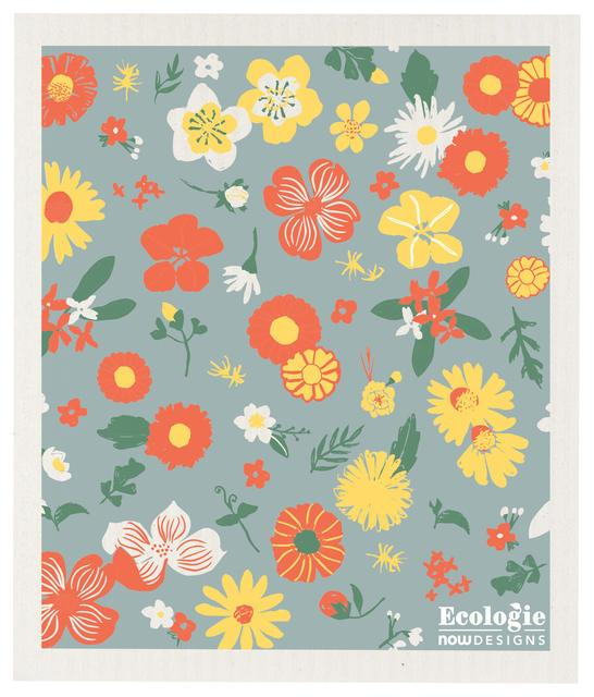 Now Designs Flowers of the Month Swedish Dish Cloth