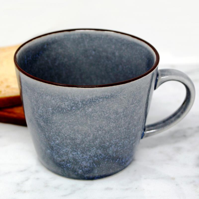 BIA Blue Glazed Mug