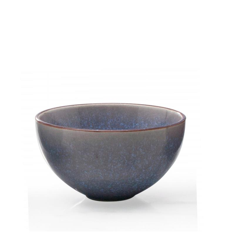 "BIA 4.5"" Blue Glazed Dip Bowl"