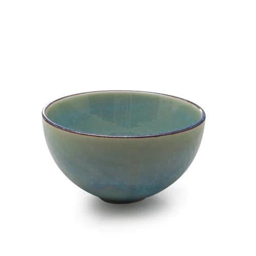 "BIA 4.5"" Green Glazed Dip Bowl"