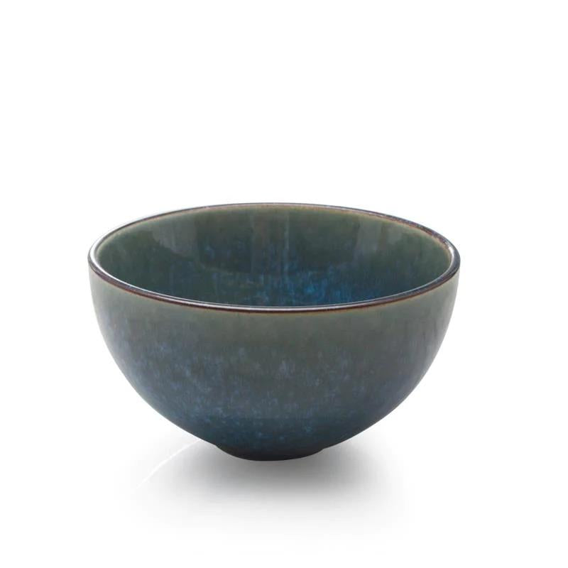 "BIA 4.5"" Teal Glazed Dip Bowl"
