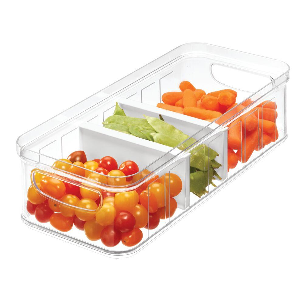InterDesign Crisp Divided Produce Storage Bin White