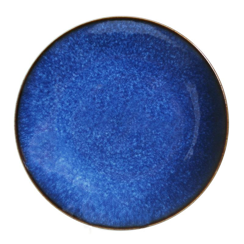 BIA Reactive Navy Dinner Plate