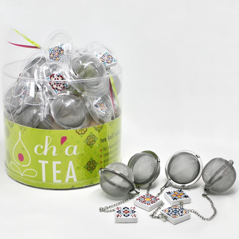 Ch'A Tea Balls With Tile Charm