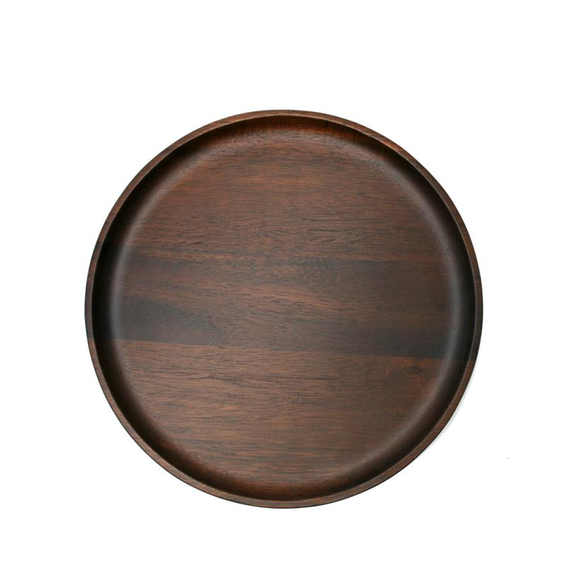 Natural Living Dark Acacia Wood Serving Plate