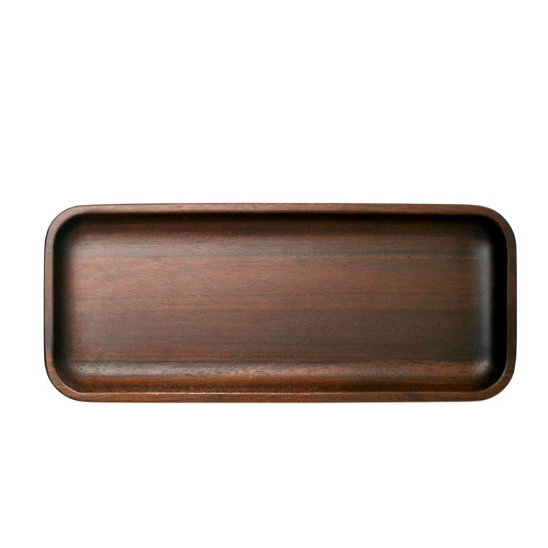 Natural Living Dark Acacia Wood Serving Platter