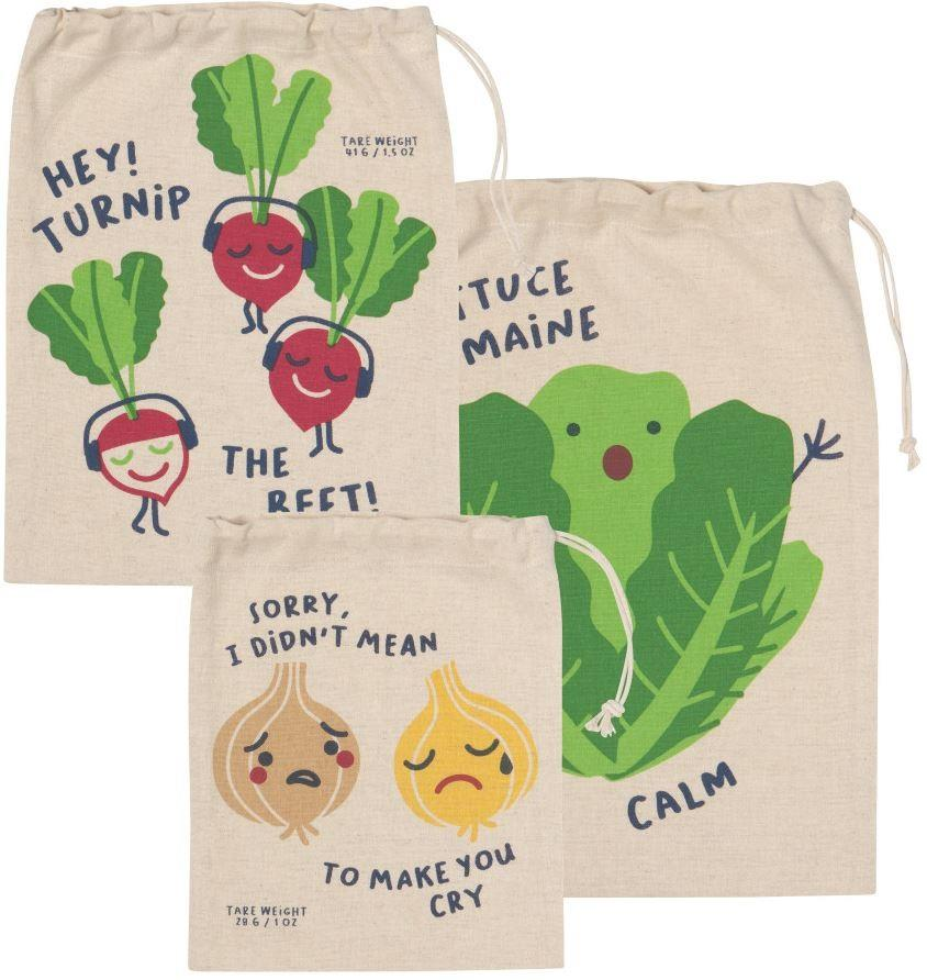 Now Designs Funny Food Produce Bag Set of 3