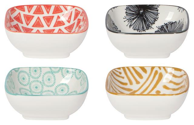 Now Designs Mix & Prep Square Pinch Bowls Set of 4