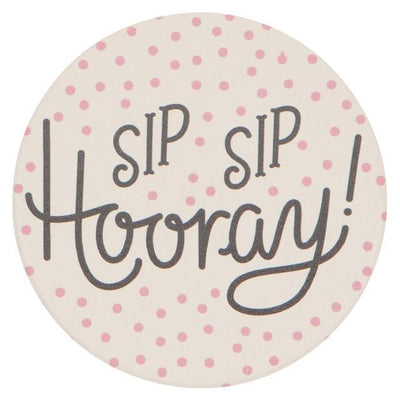 Now Designs Soak Up Sip Sip Hooray Coaster Set of 4