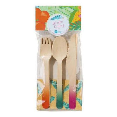 Talking Tables Tropical Fiesta Cutlery - Pack of 18