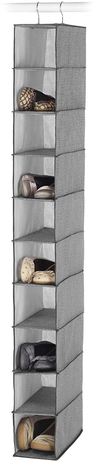 Whitmor CrossHatch 10-Section Hanging Closet Shoe Organizer