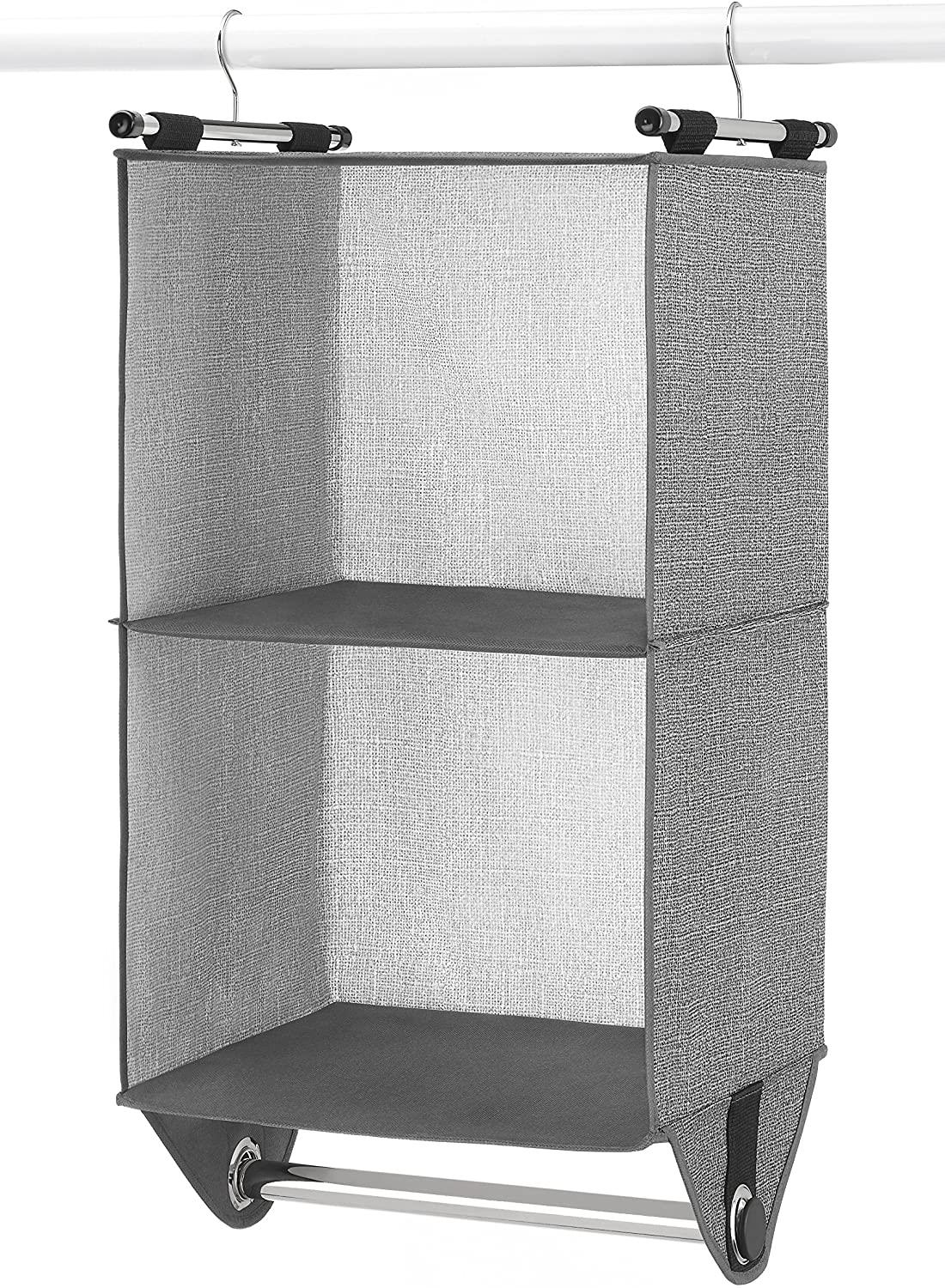 Whitmor CrossHatch 2-Section Hanging Closet Organizer
