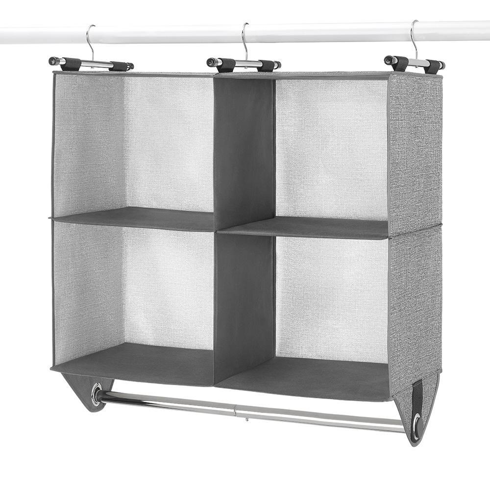 Whitmor CrossHatch 4-Section Hanging Closet Organizer