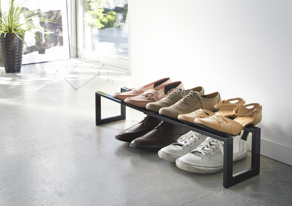 Yamazaki Line Expandable Single Tier Shoe Rack