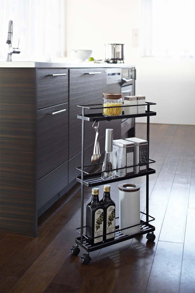 Yamazaki Tower Rolling Kitchen Storage Cart