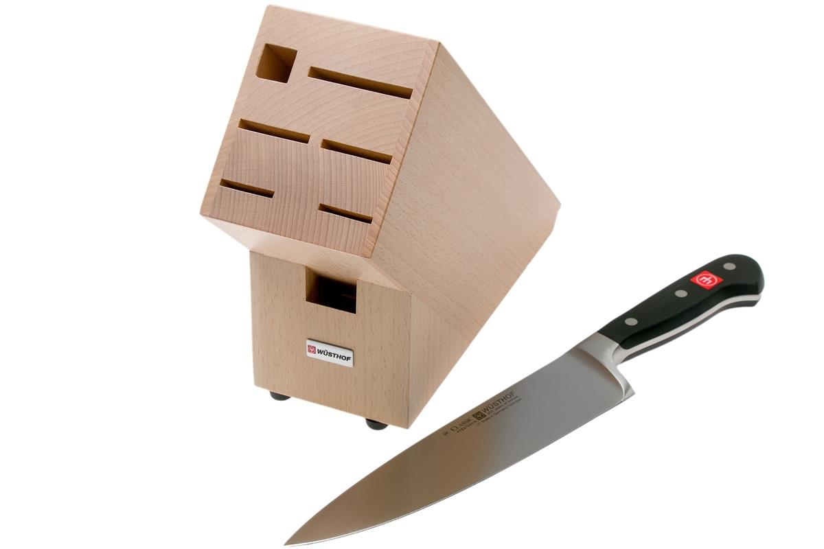 Wusthof 7-Slot Knife Block Set With Chef's Knife