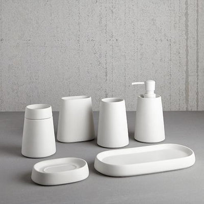 Moda At Home Crater Soap Dish - White