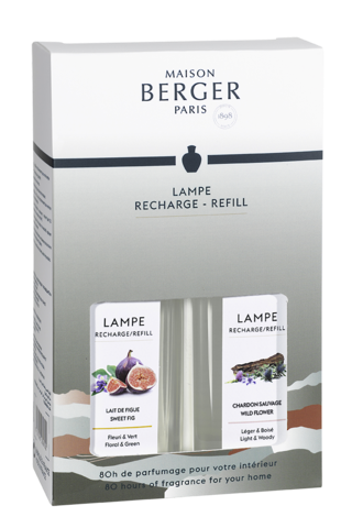 Maison Berger 500ml Fragrance Duo Gift Set, Wild Flower & Sweet Fig