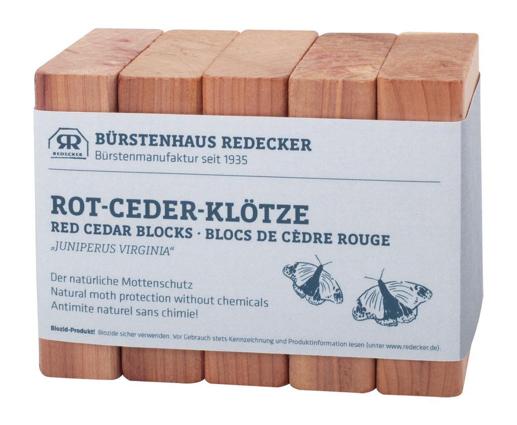 Redecker Red Cedar Closet Blocks Pack of 5