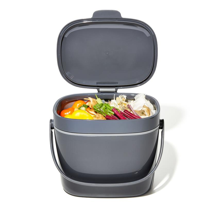 OXO Large Compost Bin Grey, 6.6L