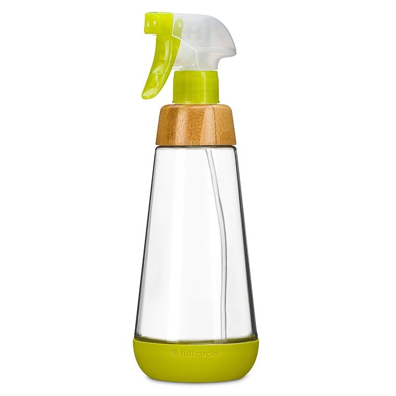 Full Circle Glass Spray Bottle Green, 16oz