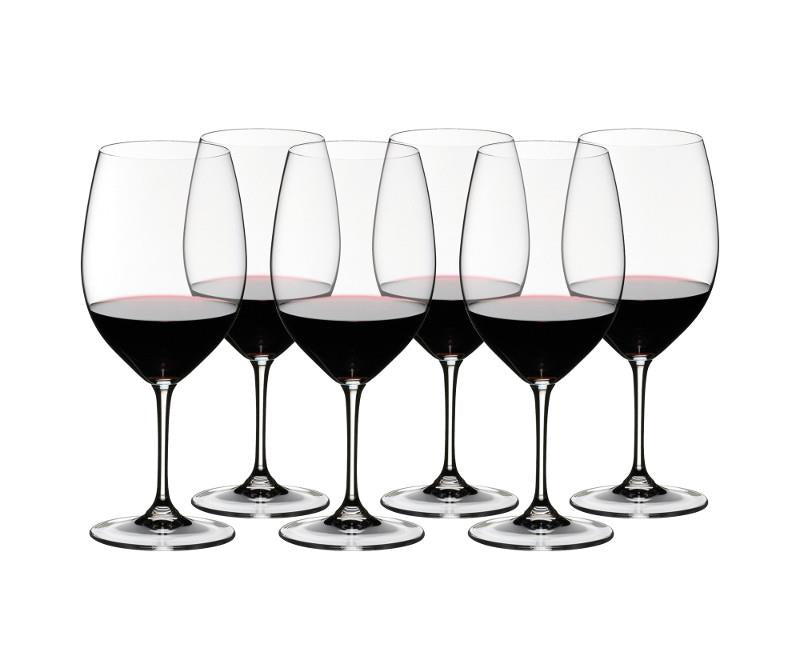 Riedel 265 Red Wine Vinum Cabernet Sauvignon Glasses Set of 6