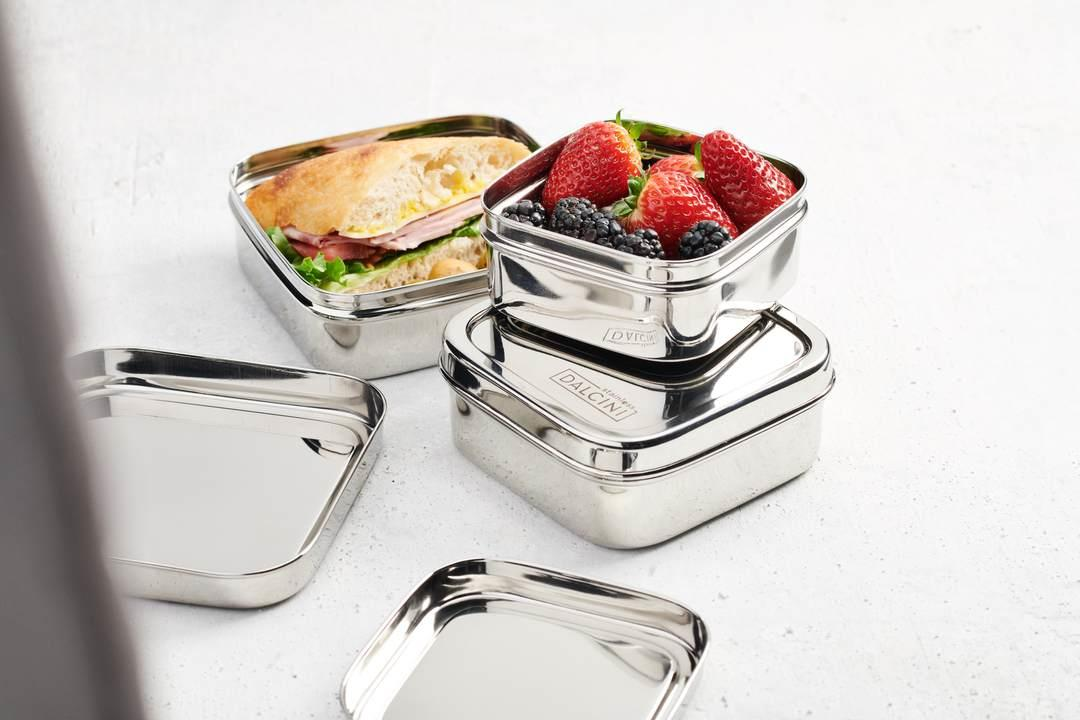 Dalcini Stainless Lunch Square Trio