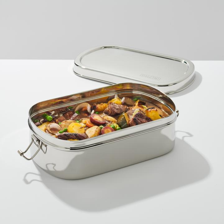 Dalcini Stainless Lunch Large Oval With Clips Container