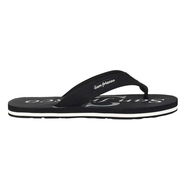 San Frissco Men's Black Slippers Flip Flop