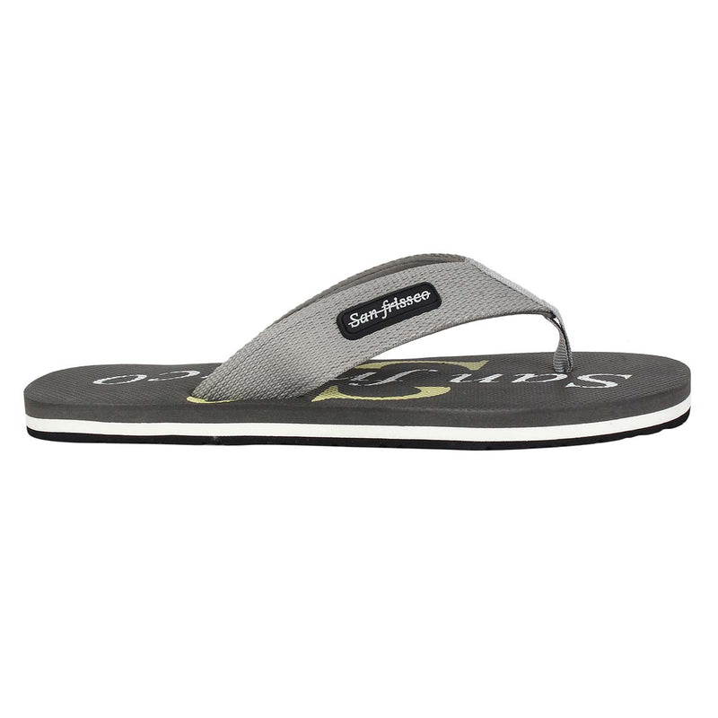 San Frissco Men's Grey Slippers Flip Flop