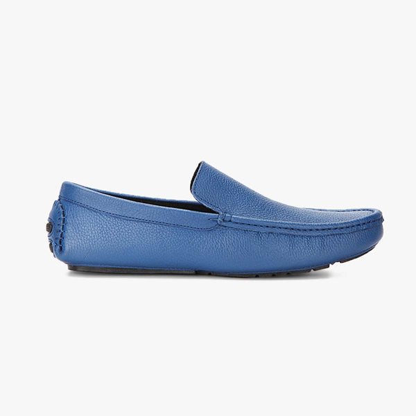 P Blue Shalimar Leather Loafers