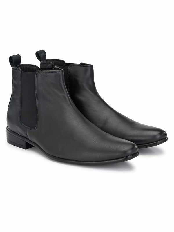Black formal chelsea boot