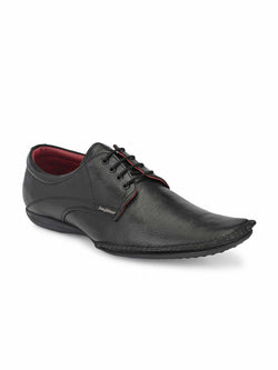 Black Flex Derby Shoes