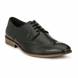 Black Leather Brogue shoes