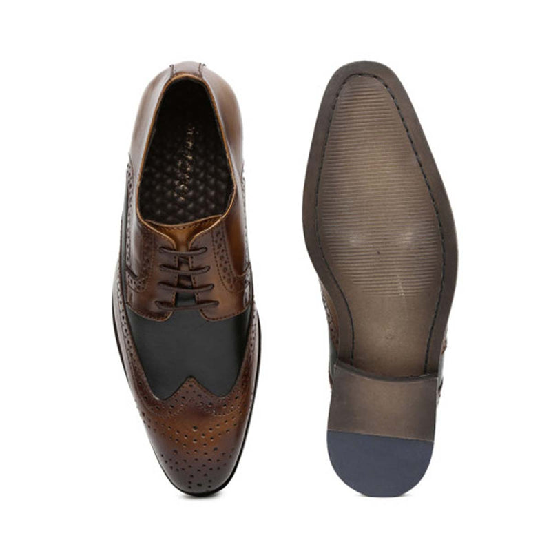 Tan Leather Brogue shoes