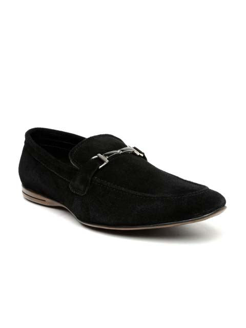 Black stylish suede loafer