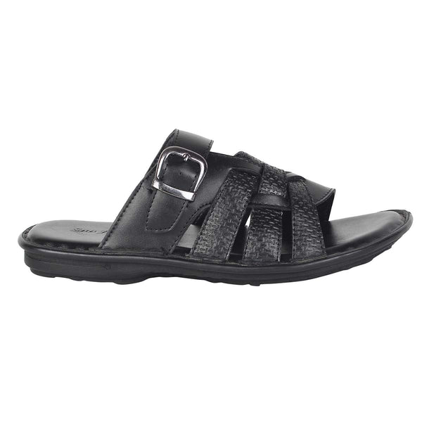 Black Criss-Cross Sandals