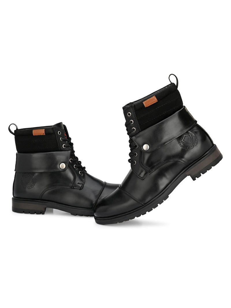Roxxy Black Lace-up Boots