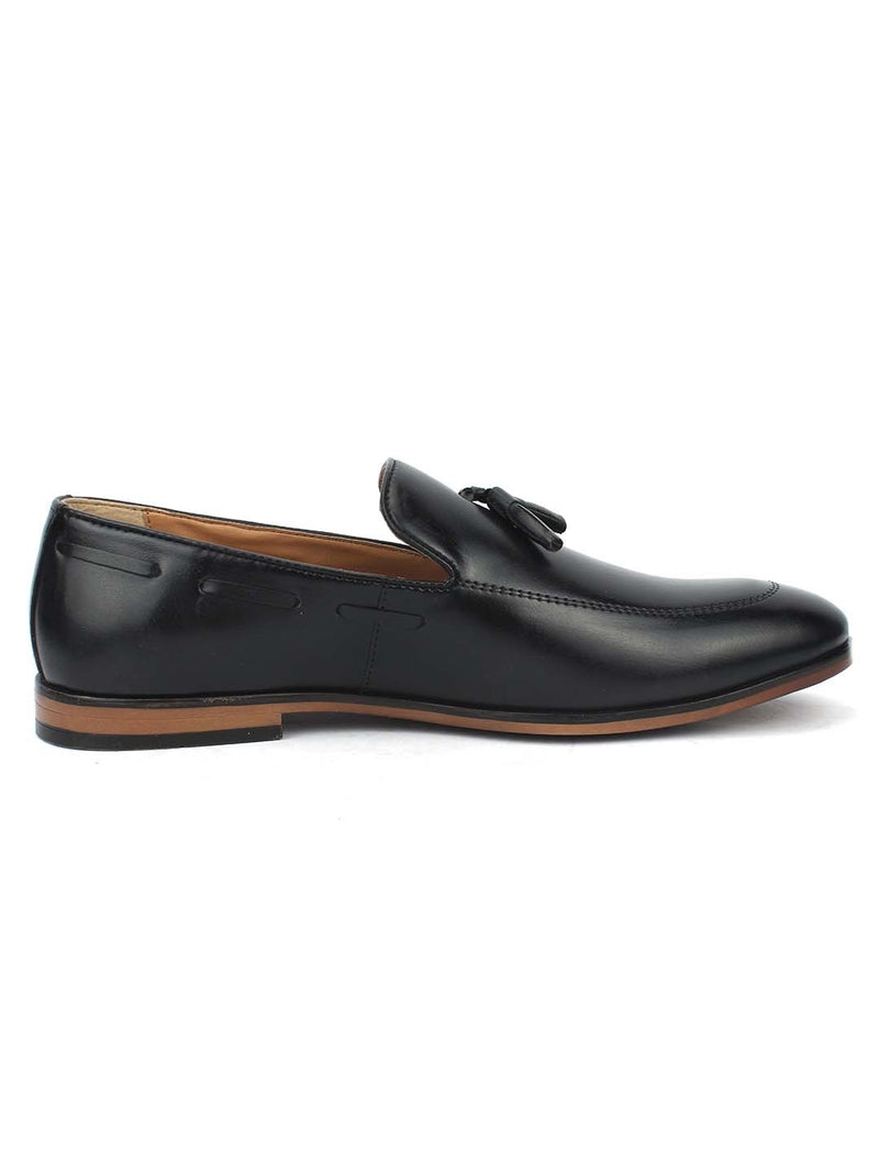 Black Boat Tassel Loafers