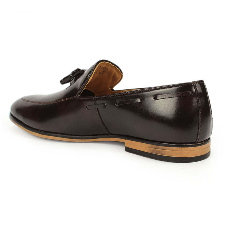 Brown Boat Tassel Loafers