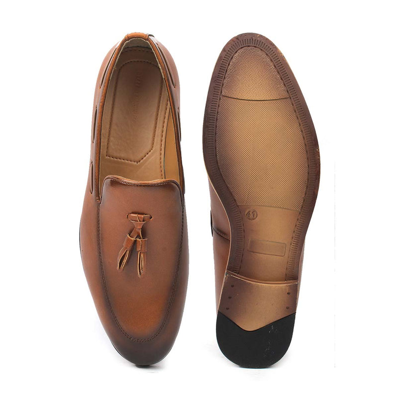 Tan Boat Tassel Loafers