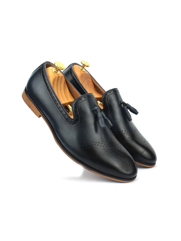 Blue Tassel Loafer