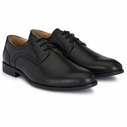 Black Dotted Derby Shoes