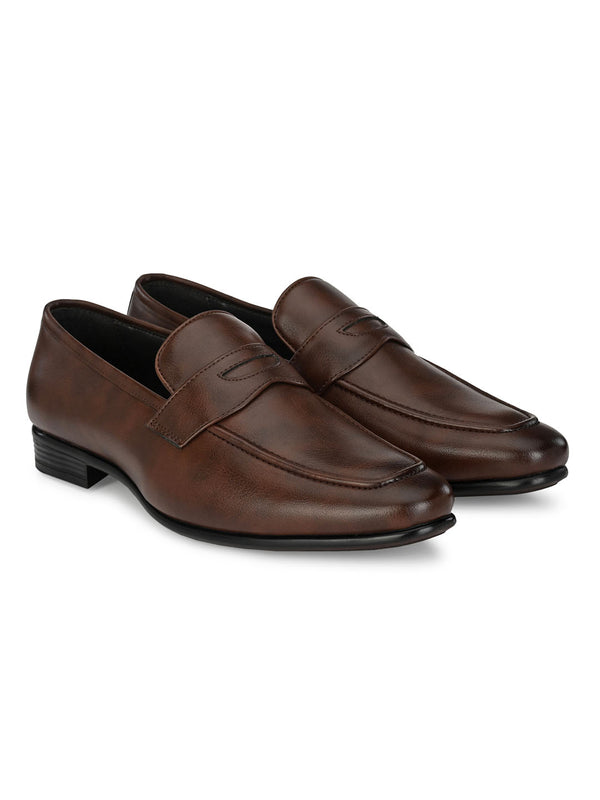 Pimp Brown Penny Loafers