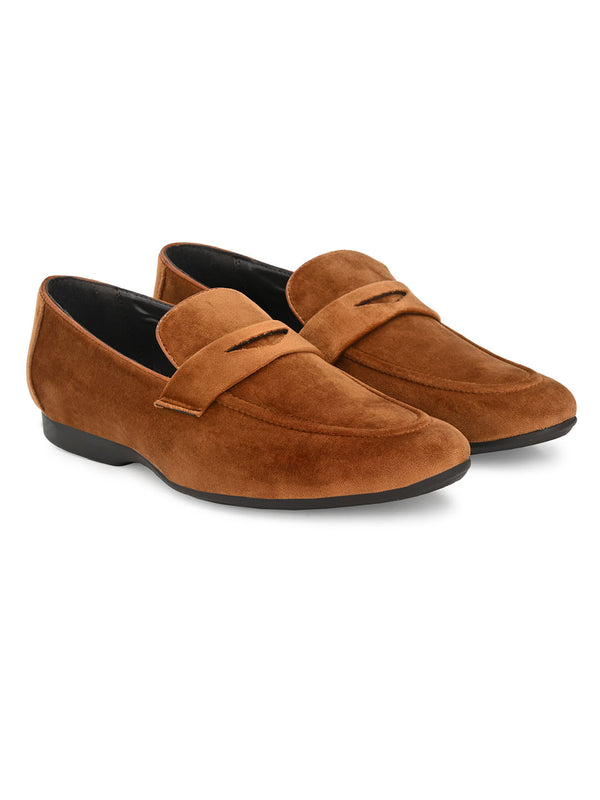 Baldwin Tan Penny Loafers