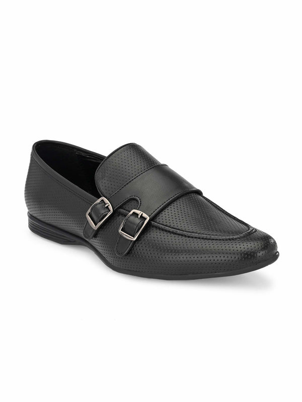 Black perphirated Monk-Strap