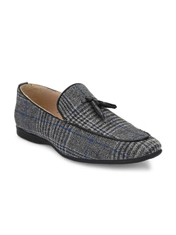 Plaid Tassel Loafers