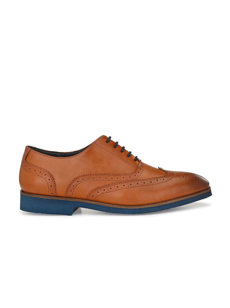 Topliner Tan Brogues