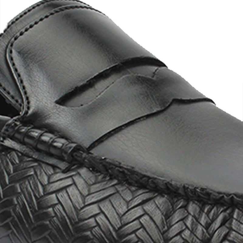 Black weaved Loafer