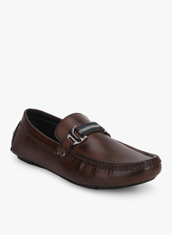 Brown Buckle Formal Loafers